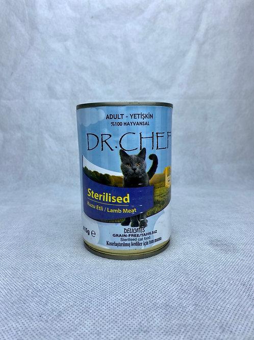 """Dr. Chef Yetişkin, Kısırlaştırılmış Kediler için """"KUZU ETLİ"""" Konserve Mama !"""