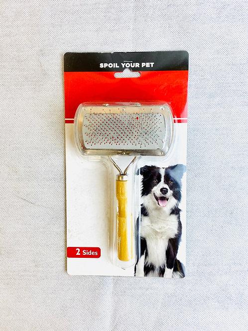 Kedi ve Köpekler için Çift Başlıklı Kıl ve Tüy Temizleme Tarağı