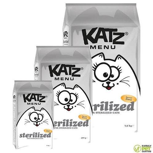 """Katz Menu Kısır Kediler İçin """"TAHILSIZ, GLÜTENSİZ, ÖZEL SERİ TAVUKLU"""" Mama !"""