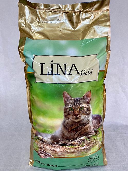 """Lina Gold Yetişkin Kediler için """"HAMSİLİ"""" 15 KG Mama!"""