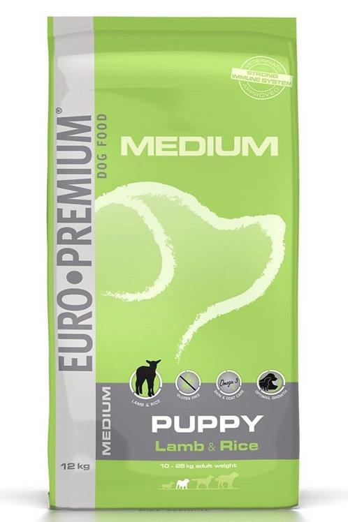 """Euro premium Orta Irk Yavru Köpekler için """"TAHILSIZ ve GLÜTENSİZ KUZU ETLİ"""" Mama"""