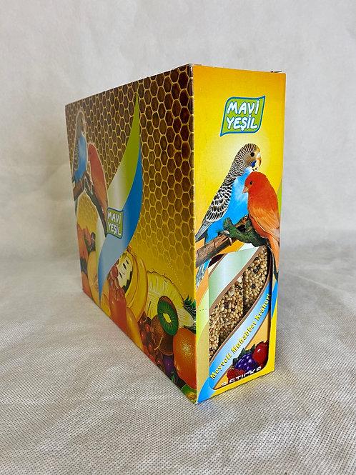 """Mavi Yeşil """"MEYVELİ"""" 10'lu Kuş ve Papağan Krakeri 10x130 G"""