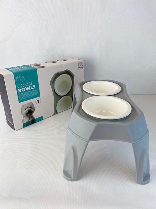 M-Pets Combi Bowls Ayaklı Yüksek Mama ve Su Kabı - Small