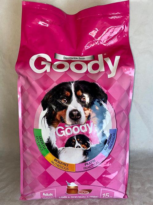"""Yetişkin Köpekler için Goody """"KUZU ETİ ve PİRİNÇLİ"""" 15 KG Mama"""