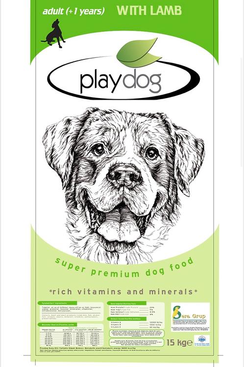 "Playdog ""KUZU ETLİ"" Köpek Maması 15 KG"