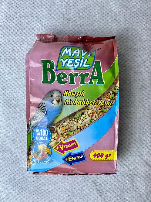 Mavi Yeşil Berra Besleyici Karışık Muhabbet Kuşu Yemi 400 G