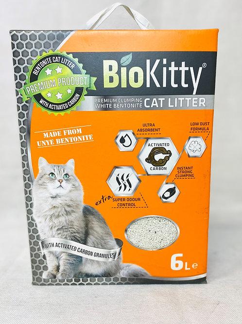 Biokitty Bentonit, Aktif Karbonlu, Topaklanan, Tozsuz Kedi Kumu