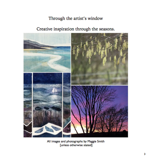 Through the artists window - Maggie Smith book