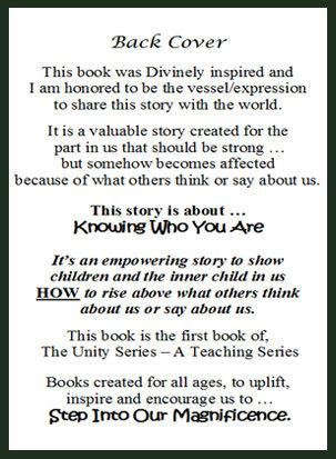 Children's Book - Back Cover - Know Who You Are - The Banana Story by Unity, Counselor of the Heart