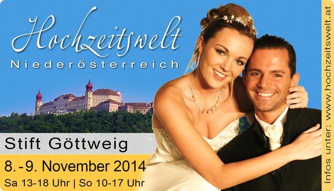 Hochzeitsmesse im Stift Göttweig - wir freuen uns auf euch!