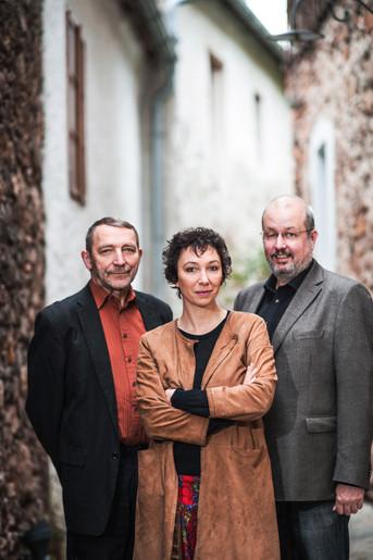Ursula Strauss, Michael Strauss und Franz Plener