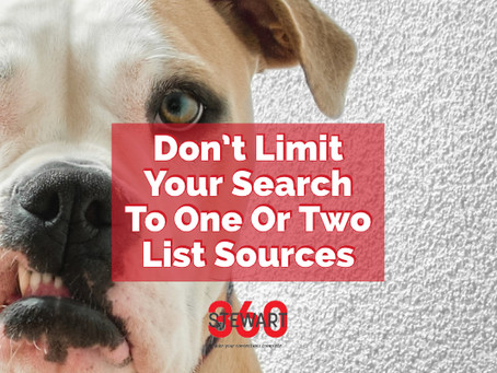 Do Not Limit Your Search To One Or Two Lists