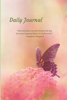 Daily Journal - Pastel Pink Flowers Diary Notebook.jpg