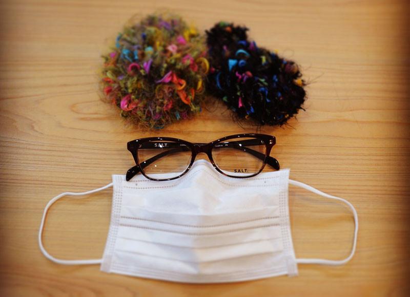 普通のメガネで50%以上花粉をカット!