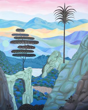 La quiétude de l'aurore, acrylic sur toile