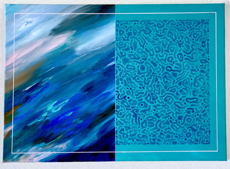 Friction, acrylic sur toile, 70x50cmcm