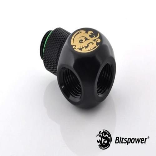 Bitspower G1/4″ Matt Black Q-Rotary IG1/4″X3 Extender (BP-MBQR-C)