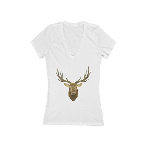 Women's Jersey Short Sleeve Deep V-Neck Tee