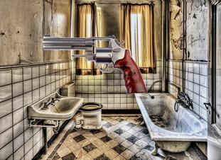 Gunshots in the Bathroom