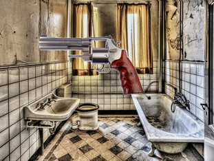 Gunshots in the Bathroom