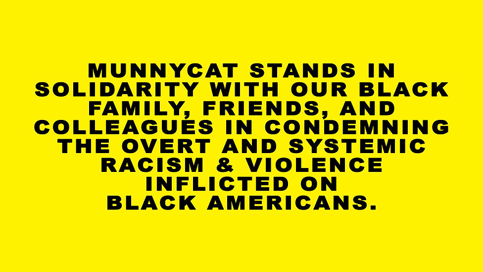 Munnycat Official Statement Black Lives