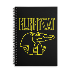 MUNNYCAT Official Merch Sobek Logo Notebook Black