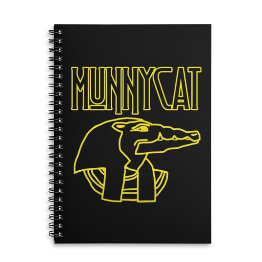 MUNNYCAT Official Merch Sobek Logo Notebook Black
