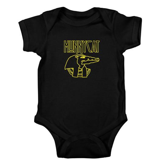 MUNNYCAT Official Merch Sobek Logo Baby Onesie Black