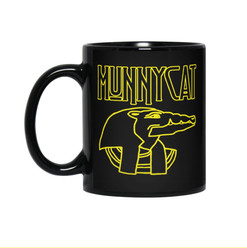 MUNNYCAT Official Merch Sobek Logo Coffee Mug Black