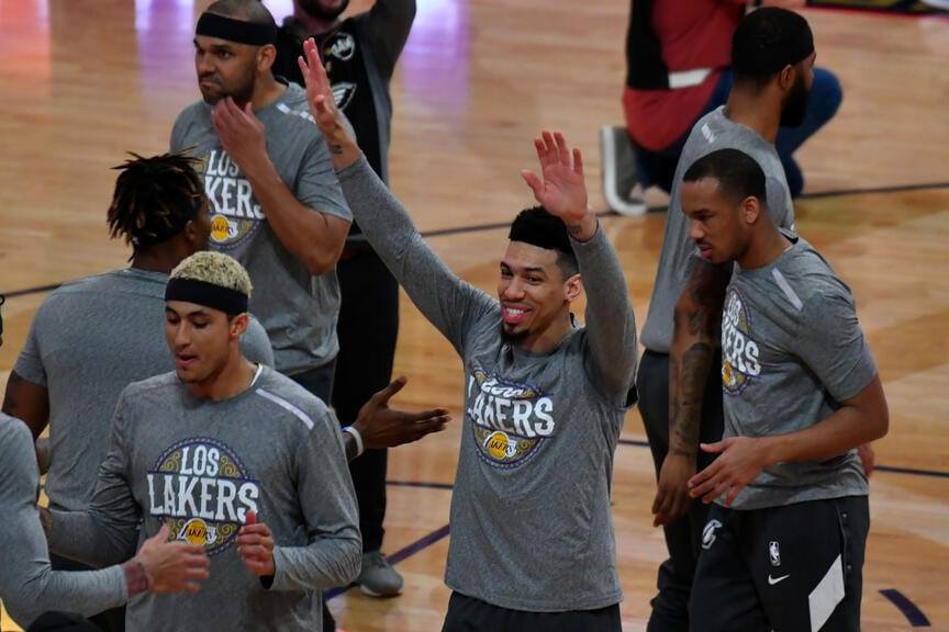 kyle kuzma danny green jared dudley dwight howard los angeles lakers nba around the game