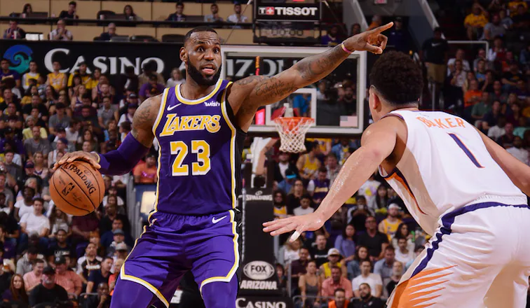 lebron james devin booker los angeles lakers phoenix suns nba around the game