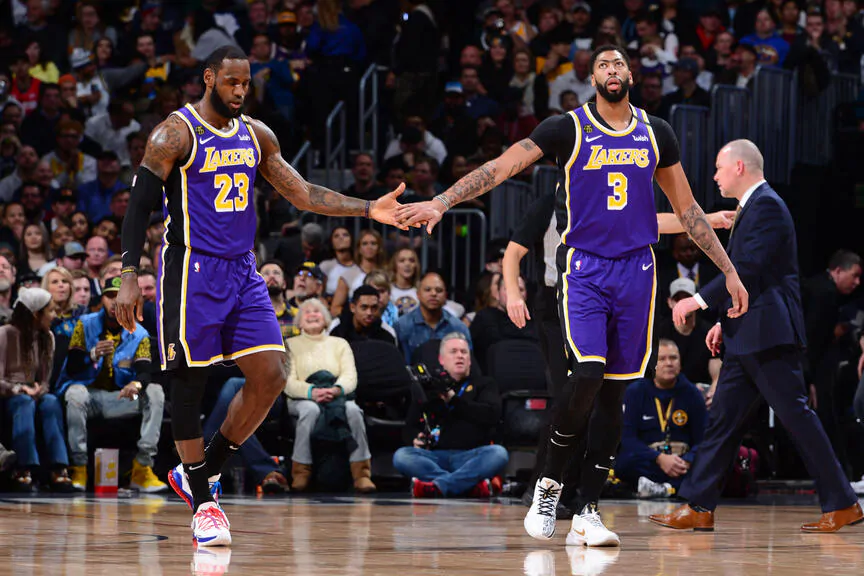 lebron james anthony davis losa angeles lakers nba around the game