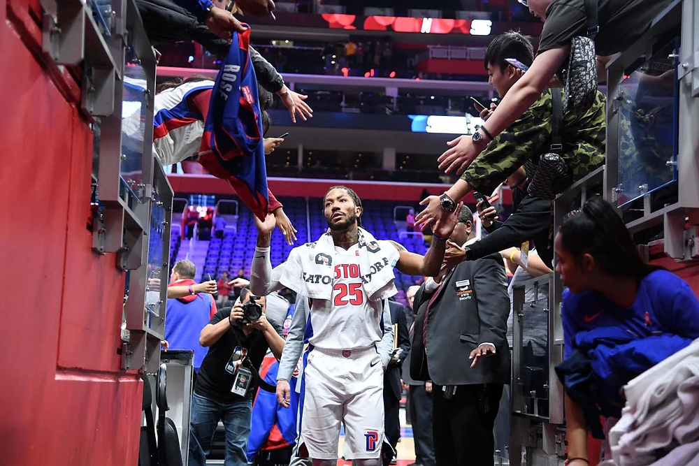 derrick rose detroit pistons nba around the game