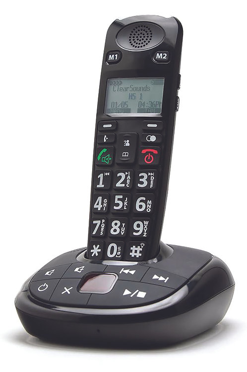 ClearSounds A700 DECT 6.0 Cordless Phone with Answering Machine