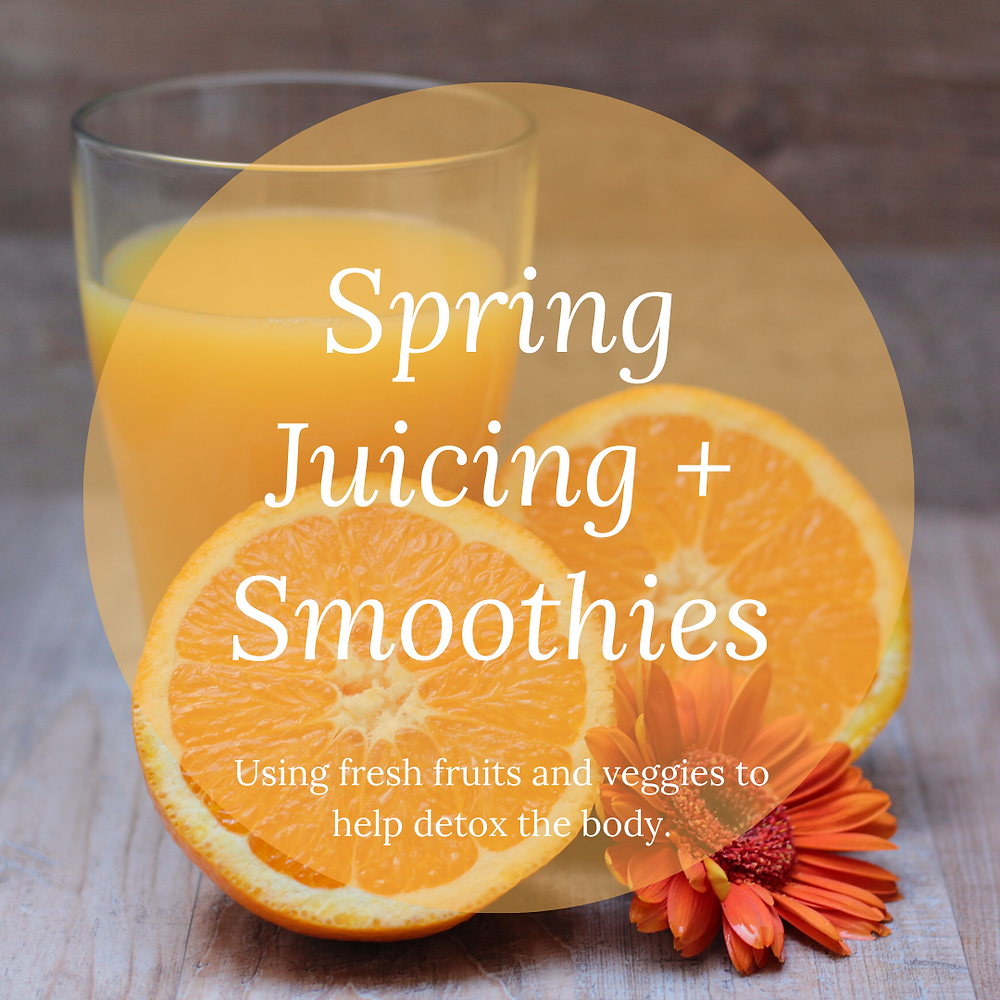 Using fresh fruit and veggies to help detox the body
