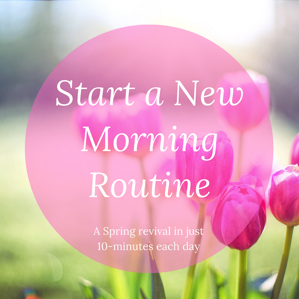 Implement new daily habits for spring
