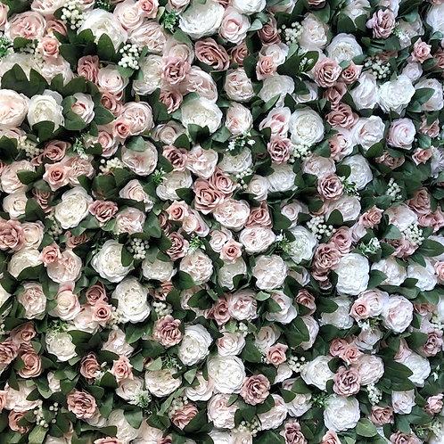 Pink Garden Flower Wall
