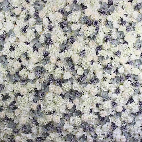 Elegant Gray Flower Wall