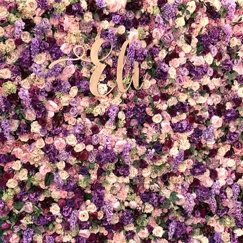 Purple Garden Wall