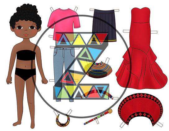 Zulu Paper Dolls - Download