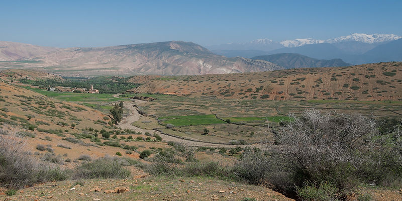 High Atlas Mountains panoramic view