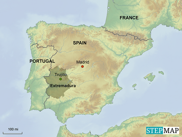 Extremadura location map