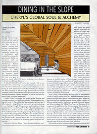 Dining In The Slope Article