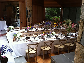 Catering Photo Wedding set up
