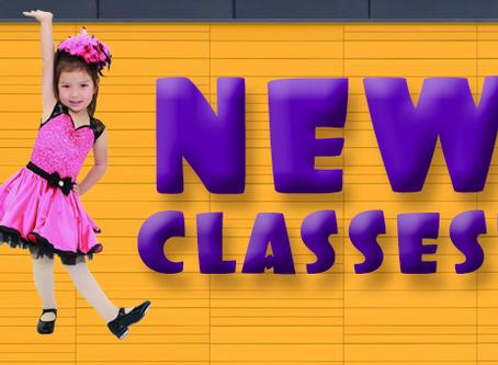New Fall 2018 Classes