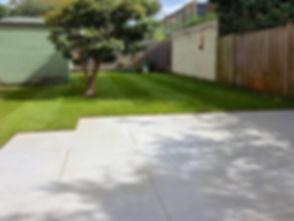 garden tiled patio