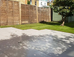 garden tiled patio