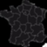 carte de france par région vierge noir