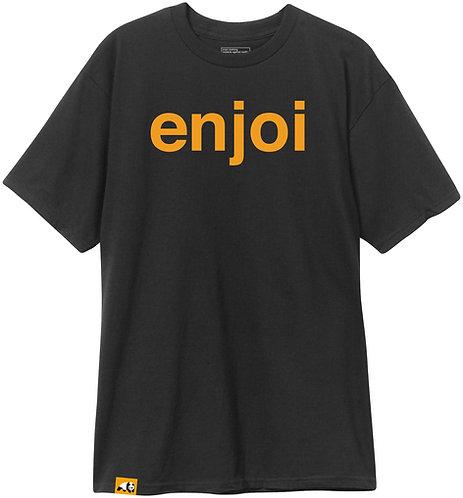 Enjoi Helvetica Logo Tee Blk/Org