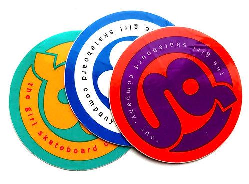 "The Girl Skateboard Company Round Sticker 2.25"""